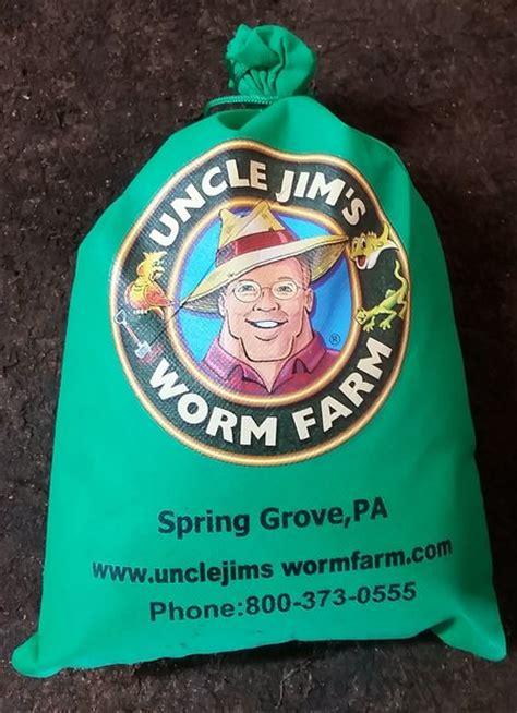 worm jim farm composting uncle mix 1000 worms