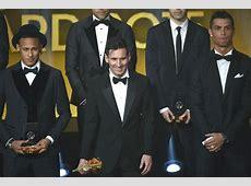 ¿A quién votaron Messi, Cristiano Ronaldo y Neymar?