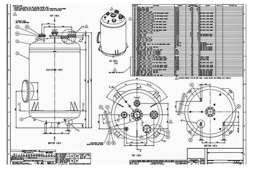 pressure vessel autocad drawings download