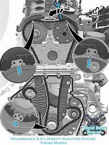 2020 Vw Volkswagen Tiguan Timing Marks Diagram  2 0l Tsi