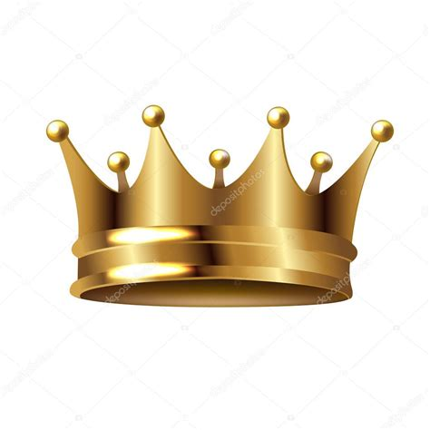 Golden Crown Isolated White Background Gradient Mesh ...