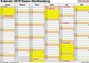 Ferien Nrw 2018 19 : kalender 2018 baden w rttemberg ferien feiertage word vorlagen ~ Buech-reservation.com Haus und Dekorationen