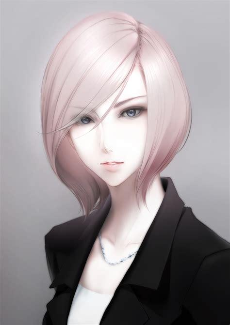 wallpaper face blonde long hair anime girls short
