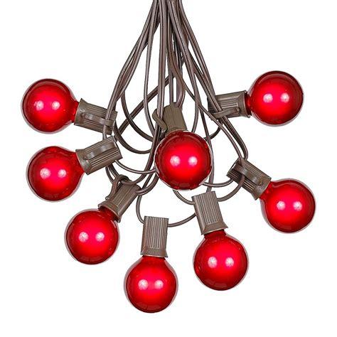 string lights 100 g40 globe outdoor string light set on brown