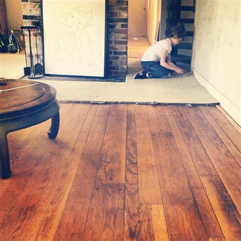Install hardwood floor ? linoleum reducer   Open floor
