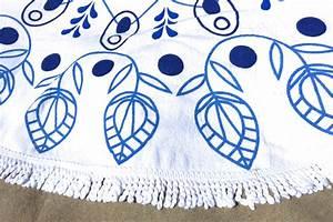 Grande Serviette De Plage Ronde : serviette de plage ronde ponge tendances du monde ~ Teatrodelosmanantiales.com Idées de Décoration