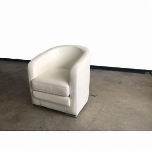 Fauteuil Cuir Blanc : fauteuil club cuir blanc destockage usine soldes ~ Melissatoandfro.com Idées de Décoration