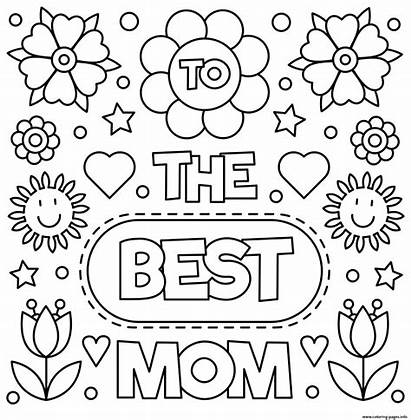 Coloring Mom Mothers Printable Flowers Meres Maman