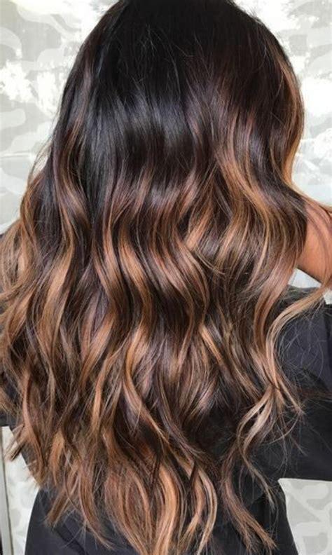 Cheveux Noir Meche Caramel 1001 Variantes Du Balayage Caramel Pour Sublimer Votre Coiffure