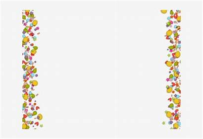 Confetti Border Background Clipart Transparent Webstockreview Clipground