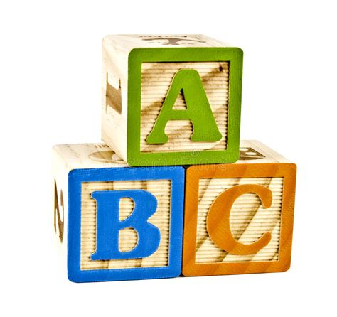 wood block letters abc in wooden block letters stock image image of classic