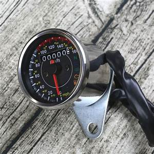Retro Motorcycles Mini Stainless Steel Mechanical Odometer