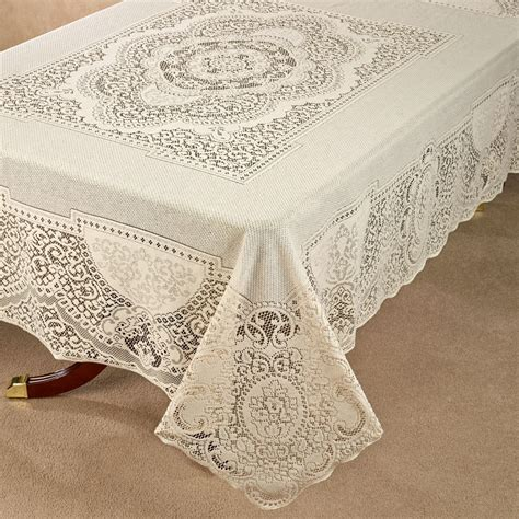 canterbury lace oblong tablecloth