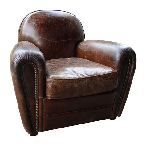 canapé chauffeuse fauteuil en cuir effet vintage winston cigare