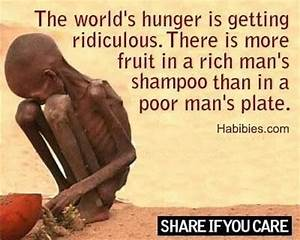World hunger pi... Food Poverty Quotes