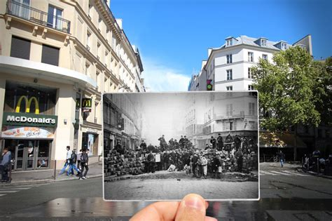 I Combined Old And New Photos Of Paris To Bring History To