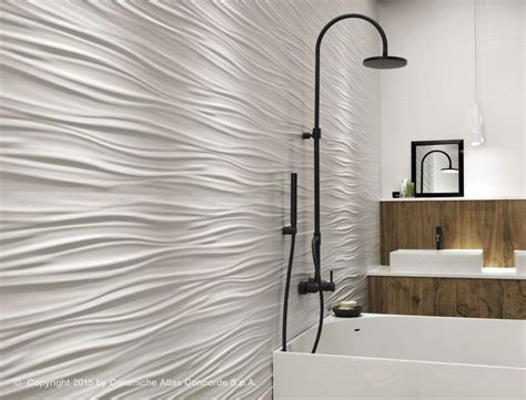 carrelage mural blanc mat carrelage mural en c 233 ramique mat uni 3dwall design ribbon atlas concorde tile