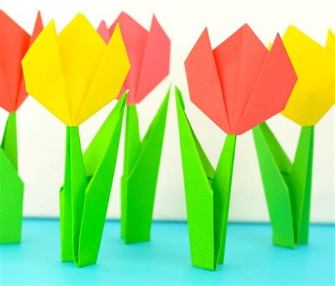 origami per bambini fiori origami facili 6 idee per bambini veloci di natale con