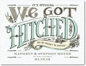 elopement announcements hitched vintage wedding announcement postcards in aloe