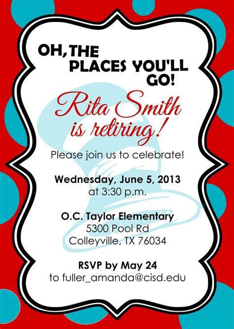 retirement invitations flyer templates