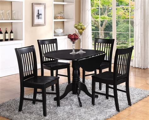 round table dinette sets 5pc set round dinette kitchen dining table with 4 wood