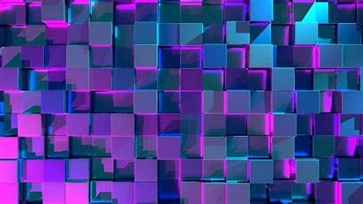 3d Cubes Structure Surface Glow Background Reflection
