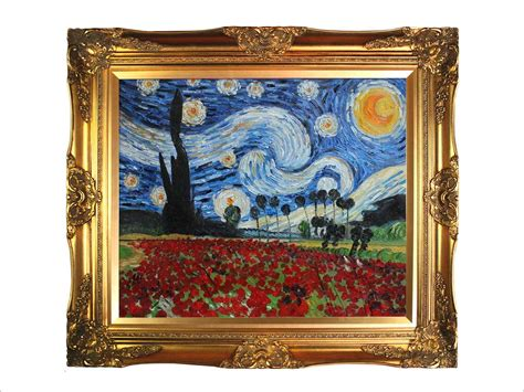 framed canvas sale reproduction painting gogh paintings starry
