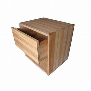 Rangement Tiroir Bois : table de chevet cube de rangement avec tiroir en bois de ~ Edinachiropracticcenter.com Idées de Décoration