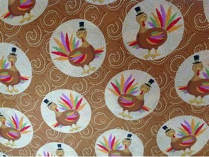 Fabric Thanksgiving Turkey Fabrics Happy Designs