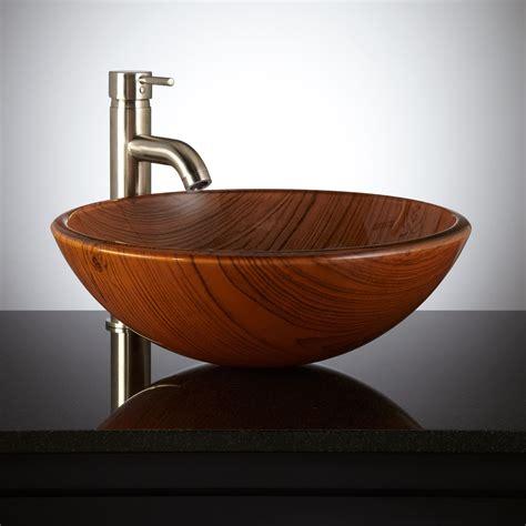wood bath vanity woodland glass vessel sink vessel sinks bathroom sinks