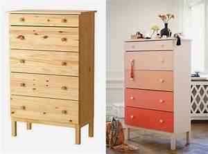 Peindre Un Meuble Ikea : customiser la commode tarva ikea boutons de tiroir pin ~ Melissatoandfro.com Idées de Décoration