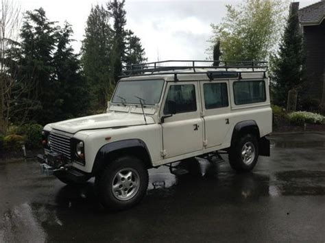 how to sell used cars 1986 land rover range rover electronic valve timing purchase used land rover defender 110 actually 1986 in buckley washington united states
