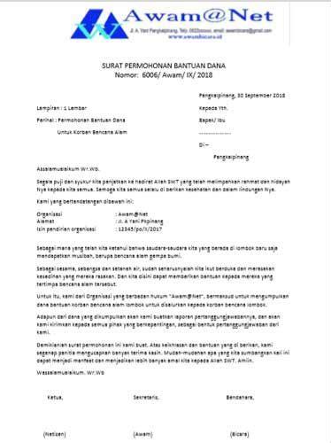 Surat Permohonan Sponsor by Contoh Surat Permohonan Bantuan Beasiswa Dan
