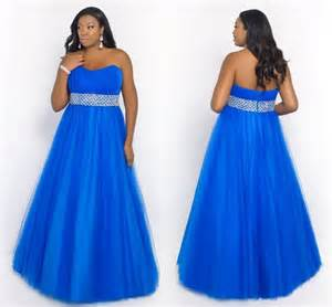plus size royal blue bridesmaid dresses a line royal blue plus size prom dresses with beading floor length prom gowns chiffon tulle
