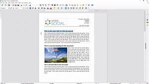 Libre Office Writer Beginners Tutorial