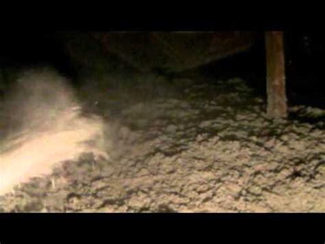 blowing  cellulose insulation  attic youtube