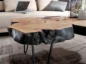 Baumstamm Als Tisch : wohnling akazie couchtisch 115 x 70 x 40cm massivholz ~ Watch28wear.com Haus und Dekorationen