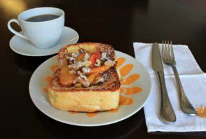 Peach Stuffed French Toast Recipe Foodie Friday The