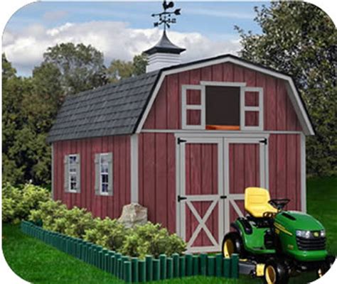 16x12 Shed Plans Free by Best Barns Sheds Wood Storage Barn Kits