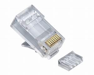 Platinum 106187c Standard 2pc Cat6 Rj45 Connector 25pc Pack