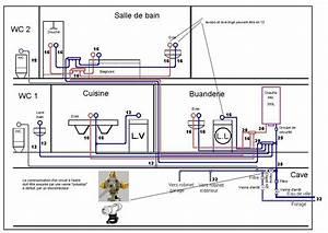 circuit eau chaude forum chauffage rafraichissement With plan de maison facile 15 la plomberie dune maison
