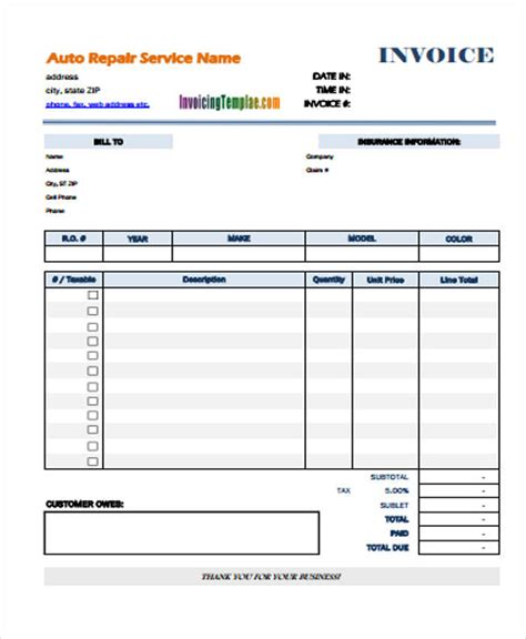simple invoice templates  word  format