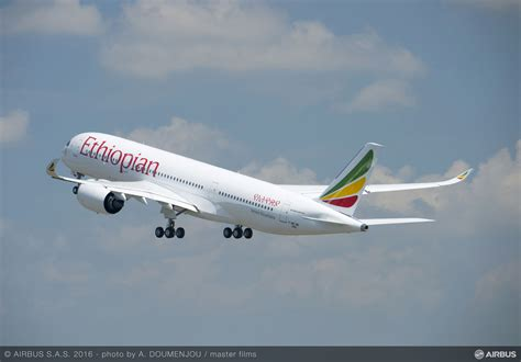 Ethiopian Airlines Airbus A350 Enters Service - Airport ...