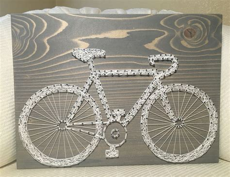 bicycle string art sign bike art personalized gift