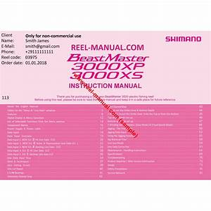 Shimano 2016 Beastmaster 3000xp Download Original User