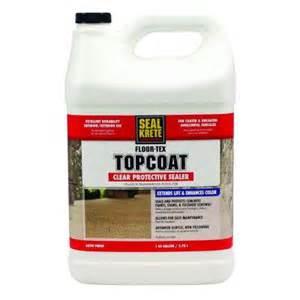 Seal Krete Floor Tex Topcoat seal krete floor tex 1 gal clear satin interior and