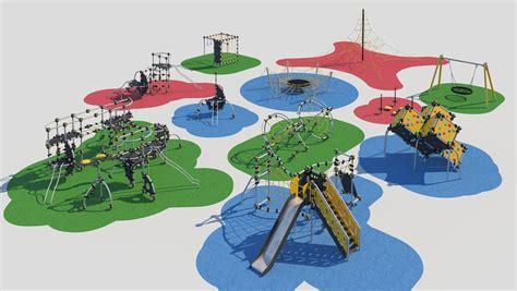 Modern children playground 3D model  TurboSquid 1204376