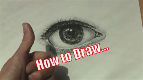 draw  realistic eye   simple steps youtube