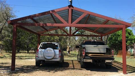 metal carport build garagespot