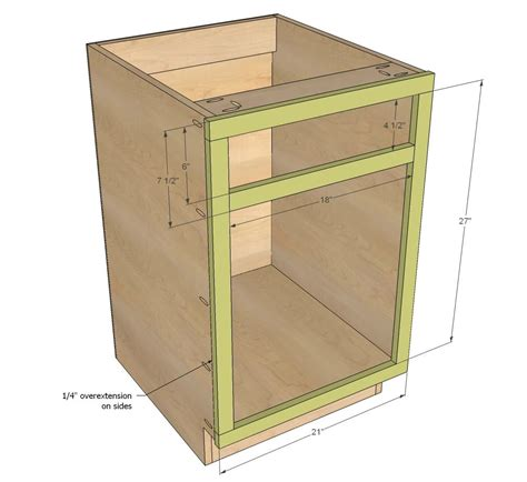 kitchen cabinet plans white build a 21 quot base cabinet door drawer combo